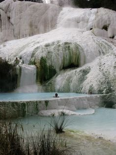 Fosso Bianco natural hot springs Bagni San Filippo in Tuscany Italy Vacation, Vacation Spots, Italy Travel, Tuscany Map, Tuscany Italy, Oh The Places You'll Go, Cool Places To Visit, Places To Travel, Siena Toscana