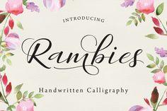 Rambies - Handwritten Calligraphy by Get Studio on Creative Market