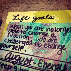 Goals + decorative paper = #happiness