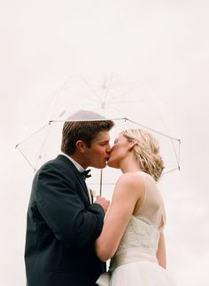 "When this bride heard it was going to rain on her wedding day, the sweet and lovely Elizabeth Messina said, ""How beautiful if it rains! Because then anytime it rains again, you'll always think of your wedding day!"" Photography by elizabethmessina.com"