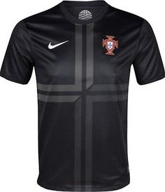 NIKE PORTUGAL AWAY JERSEY 2013/14 - Black/Anthracite This is the jersey Cristiano Ronaldo will be wearing this summer as he tries to lead Portugal to glory! Show your support for the navigators of Por
