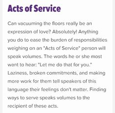Five Love Languages - Acts of Service