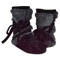 Tonal Fur Wrap Boot Shadow, $33, now featured on Fab.