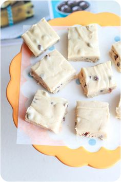 SHUT THE FRONT DOOR!!!  Chocolate Chip Cookie Dough Fudge...It's a real fudge too, not made with fake prepackaged cake icing either, it's all from scratch.  I'm looking forward to making this!!!
