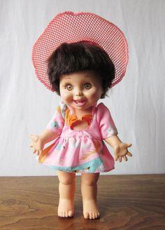 "NEW IN BOX ~ 1990 Galoob BABY FACE ""So Happy Heidi"" Doll #3 (3208)"