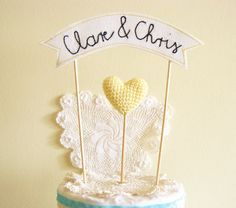 Cutesy Knitted Cake Toppers from Cherry Time   onefabday.com #wedding
