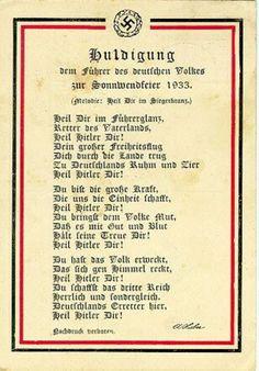 Liedtext zur Sonnwendfeier, 1933