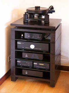 Custom Audinni WoodMan HiFi Stand in Dark Rosewood