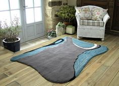 What can I say, the heather coloured section of the rug looks like a dress. Hand tufted rug by Annette Turner by Kids Rugs, Hand Tufted Rugs, Rugs, Home Decor, Color, Tufted