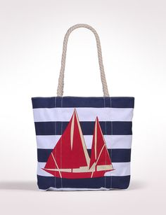 $20 Accessories | Sailboat Canvas Tote | dressbarn