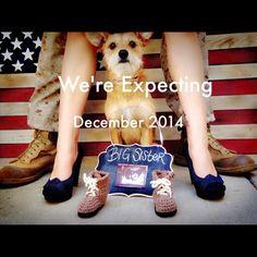 ♡Military Pregnancy Announcement♡