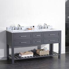 """Pasadenas 60"""" Double Bathroom Vanity"""