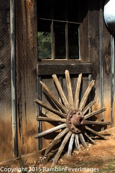 PHOTO WAGON WHEEL 2539 Color  Photograph Artwork by RamblinFeverImages on Etsy