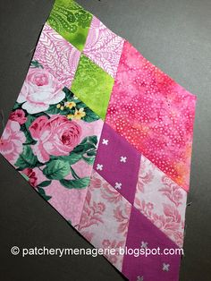 The Patchery Menagerie: Tickled Pink! Quilting Tutorials, Quilting Projects, Quilting Designs, Sewing Projects, Patchwork Designs, Cute Quilts, Scrappy Quilts, Easy Quilts, Quilt Block Patterns