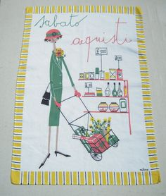 Hey, I found this really awesome Etsy listing at https://www.etsy.com/listing/202069699/vintage-milvia-towel-saturday-is-mid