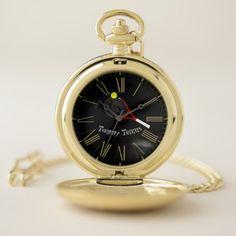 Tennis time cool funky modern elegant trendy pocket watch - kids kid child gift idea diy personalize design