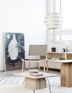 Minna Jones: Interior design project for NCC housing / Sisustusprojekti rakennusliike NCC. Nordic Living Room, Interior Design Living Room, Home And Living, Living Spaces, Pine Wood Furniture, Best Leather Sofa, Cool Rooms, Home Fashion, Furniture Design