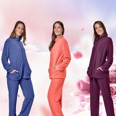 RAIKOU Damen Jersey Kleid Langarm Feminine Looks Elegant Trendiges Homewear Duster Coat, Elegant, Jackets, Fashion, Fashion Styles, Gowns, Women's, Classy, Down Jackets
