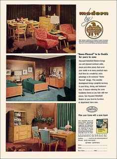 Heywood Wakefield Furniture Ad, 1952