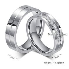 Silver Color Wedding Rings For Men and Women Wholesale