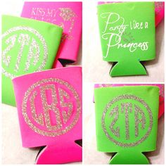 Beverage koozie beer cozy sorority gift princess by Baileywicks, $4.95
