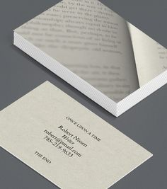 A very creative witty business card inspirational creativity writer business card design reheart Images