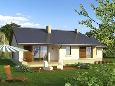case parter cu 3 dormitoare Model House Plan, House Plans, Small House Design, Bungalow, Gazebo, Outdoor Structures, Architecture, House Styles, Outdoor Decor