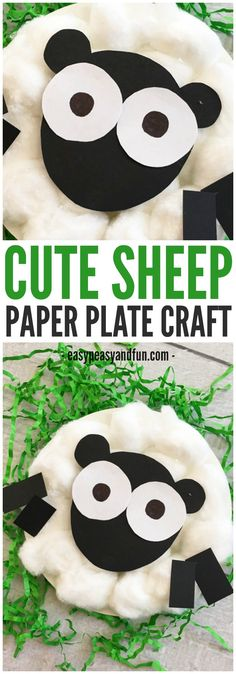 Cute sheep paper plate craft for kids! A great activity for preschoolers this spring!