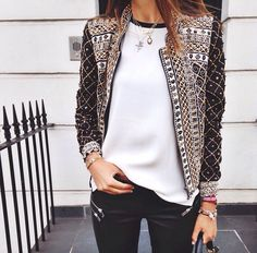 Sequin detail on blazer