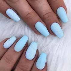 Spring Fever Nails 50 Super Cute Spring Nails FavNailArt com prettynails is part of Cute nails Sparkle Valentines Day - Cute nails Sparkle Valentines Day Blue Acrylic Nails, Acrylic Nail Designs, Pink Nails, My Nails, Blue Nails With Glitter, Cure Nails, S And S Nails, Light Blue Nails, Gradient Nails