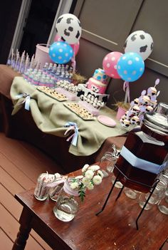 Cute Cow Party.....love the cow print balloons!