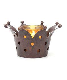 Look at this #zulilyfind! Medium Weathered Rust Crown Votive Holder by Stonebriar Collection  #zulilyfinds