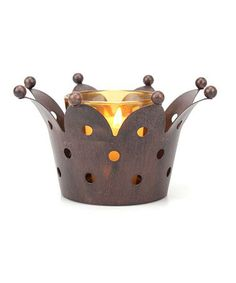 Another great find on #zulily! Medium Weathered Rust Crown Votive Holder by Stonebriar Collection  #zulilyfinds