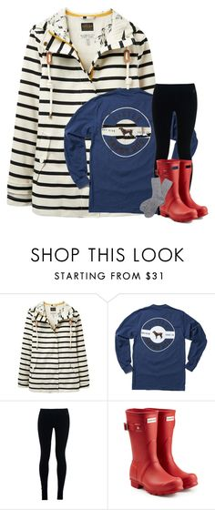 """""""Rainy Day Contest"""" by stripedprep ❤ liked on Polyvore featuring Joules, NIKE, Hunter and Barbour"""