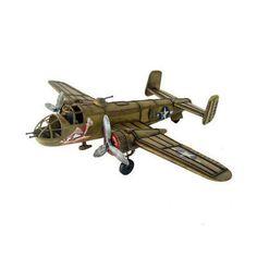 Retro Vintage B-25 Metal Airplane Model Aircraft Decoration Plane Toy Automobeli