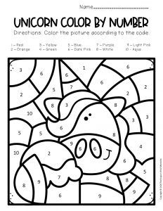 Free Color By Number Unicorn Printables Unicorn Printables Color By Number Printable Coloring For Kids