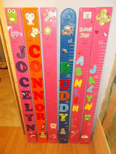 Growth Charts for Kids by BeckWoodworking on Etsy, $35.00