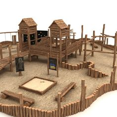 Wooden Playground Model available on Turbo Squid, the world's leading provider of digital models for visualization, films, television, and games. Wood Playground, Kids Backyard Playground, Playground Design, Backyard For Kids, Children Playground, Outdoor Pallet Bar, Outdoor Fun, Piscina Playground, Outdoor Play Areas