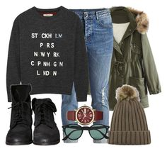 """""""Not Words"""" by betty220285 ❤ liked on Polyvore featuring WithChic, Ray-Ban, Marc by Marc Jacobs, Madewell, Zara, women's clothing, women, female, woman and misses"""