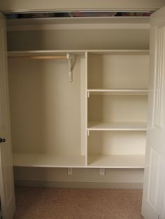 Closet Shelving DIY - I so need to do this to a few of my closets!
