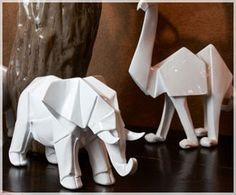 Ceramic Origami Animals by Mossapour