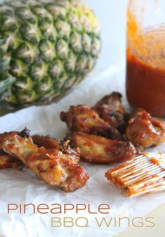 Pineapple BBQ Wings | Doughmesstic