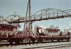 Numbers of StuH 40 assault guns being transported by rail in occupied Russian territory.