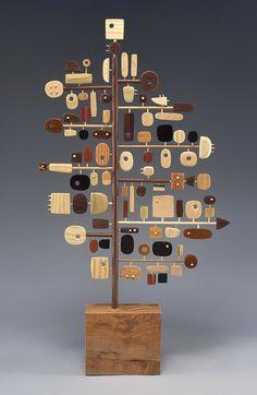 Wood sculpture by Hilary Pfeifer Abstract Sculpture, Wood Sculpture, Sculpture Ideas, Sculptures Céramiques, Assemblage Art, Driftwood Art, Wood Design, Wood Carving, Oeuvre D'art