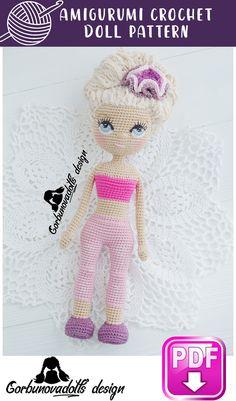 Handmade Dolls Patterns, Diy Crochet Patterns, Crochet Doll Pattern, Doll Patterns, Crochet Patterns Amigurumi, Amigurumi Doll, Beginner Crochet Tutorial, Crochet Eyes, Homemade Toys