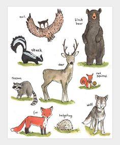 Loving this Forest Friends Print on #zulily! #zulilyfinds