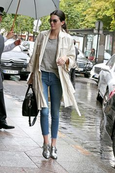 In Paris wearing a Zimmermann jacket and Mother jeans