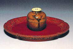 [Omote senke] utensils: Hasegawa tea container.  [表千家不審菴]茶の湯の道具:長谷川文琳茶入