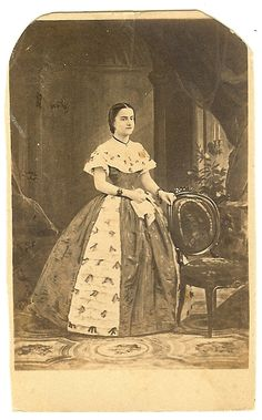 carte de visite photograph circa 1870 of the great Adelina Patti by O. A, Roorbach, from a negative made by J Gurney & Son