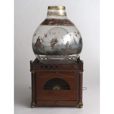 Birdcage with fishbowl, early 19th c. Netherlands. lCooper-Hewitt, National Design Museum